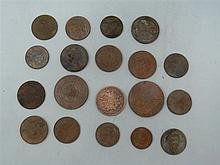 Lot coins from 1760 to early 1900