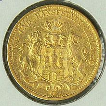 Hamburg 1978 J, 20.- Mark - gold coin. Jaeger: 210