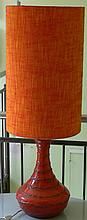 Floor lamp from the 70s, with earthenware - base