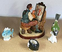 3 porcelain figures