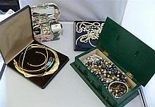 Lot Fashion Jewelry in 4 boxes