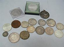 Lot coins and medals