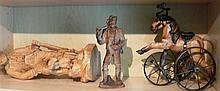 Lot carvings, a total of 5 figures