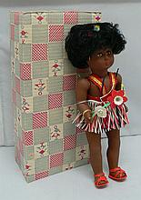 Celluloid Negro doll in its original box