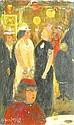 Ebert, Albert (Halle/S. 1906 - 1976)  oel/Holz. Fastnachtszene. L. u. sign. u. dat. 1958. 11,5 x 7 cm. Eingearbeiteter  Rahmen. Nach kuenstlerischen, Albert Ebert, Click for value