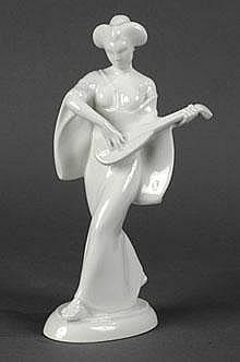 Japanerin mit Mandoline aus dem