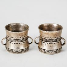 PAIR OF CHINESE SILVER CUPS