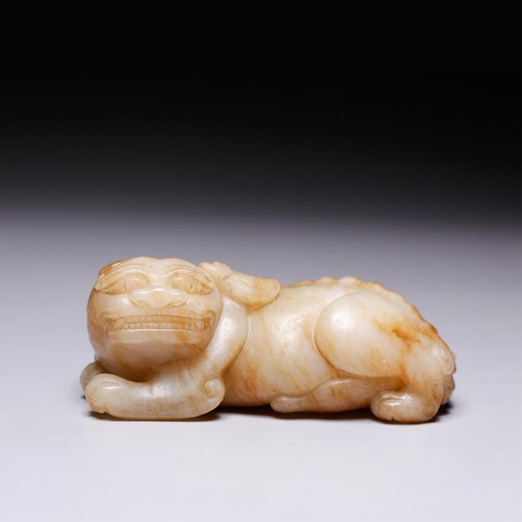 CHINESE JADE FIGURE OF BEAST