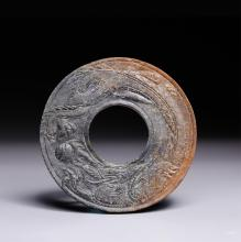 CHINESE JADE CARVED CHILONG BI