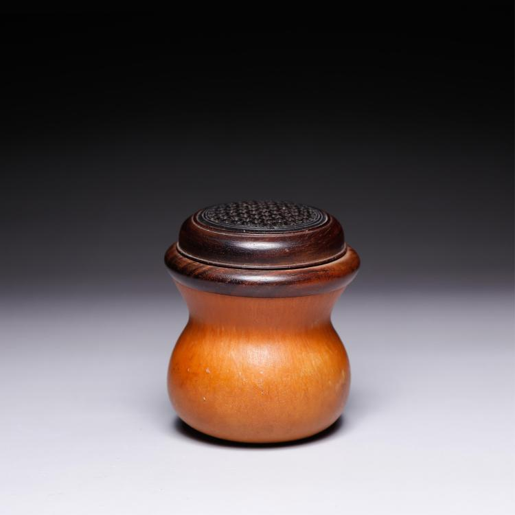 CHINESE MOLDED GOURD CRICKET CAGE