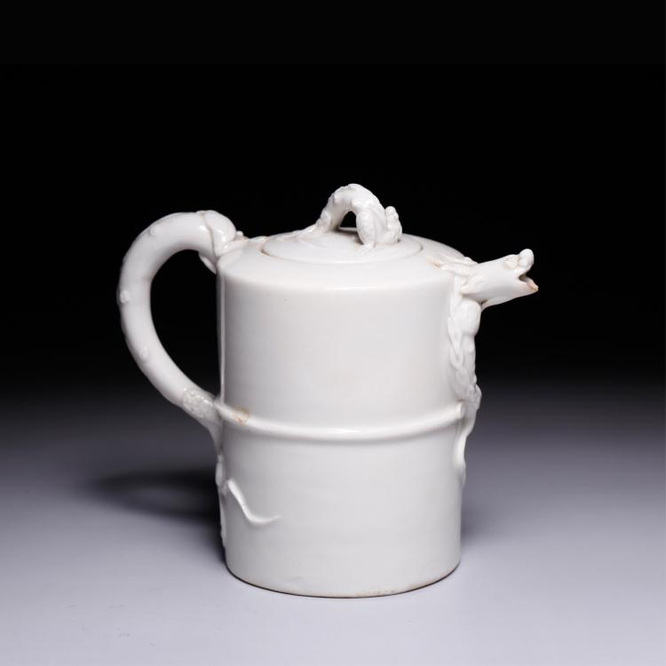 CHINESE BANC DE CHINE DEHUA CHILONG TEA POT