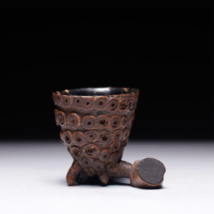CHINESE BAMBOO CARVED CUP