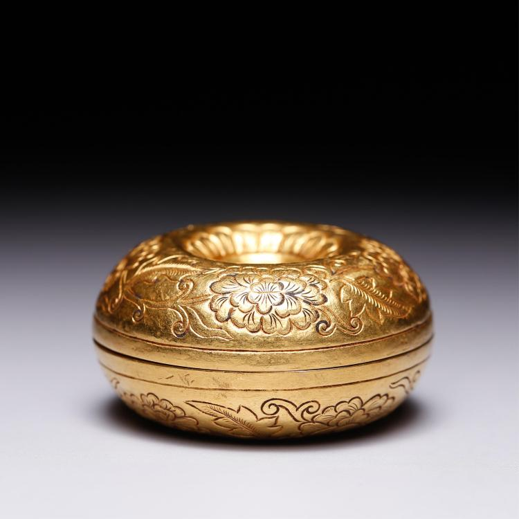 CHINESE GOLD FOLIAGE COVER BOX