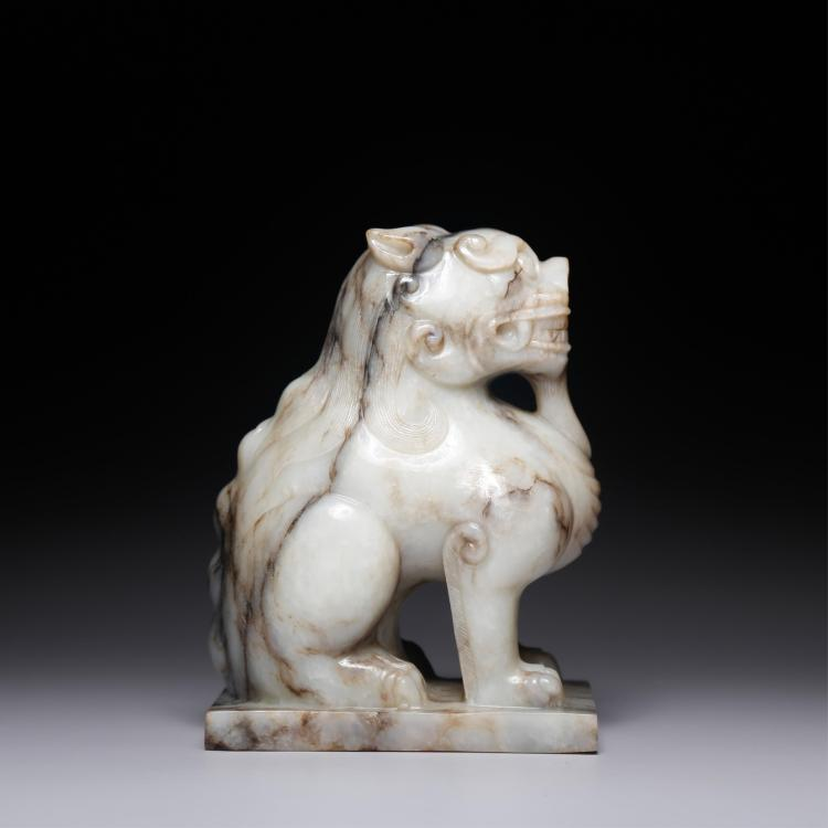 CHINESE JADE STONE CARVED FOOLION