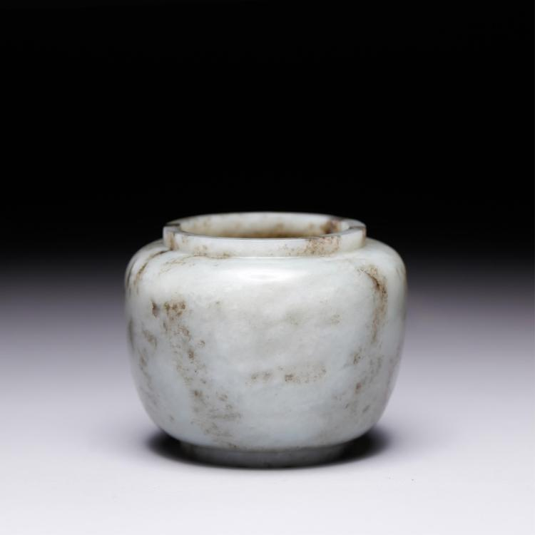 CHINESE JADE STONE WATER COUPE