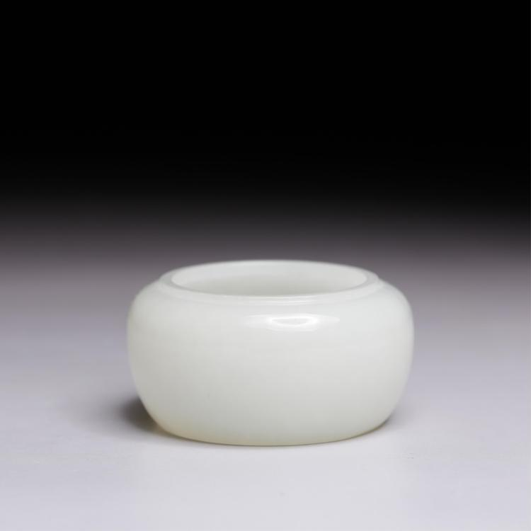 CHINESE WHITE JADE BRUSH WASHER