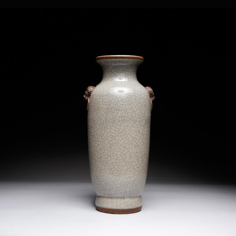 CHINESE GE TYPE TWIN EAR VASE