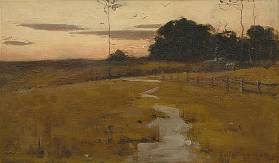 John Longstaff (1862-1941) Twilight oil on board