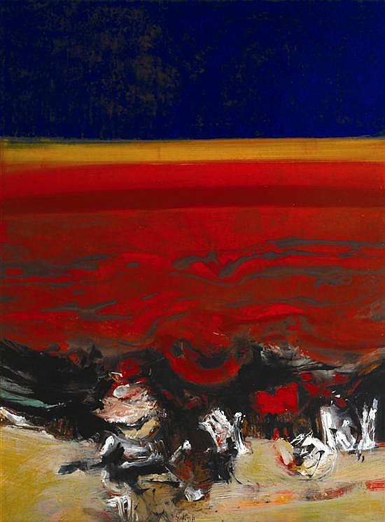 Thomas Gleghorn (born 1925) Far West No. 2 1963 oil on board