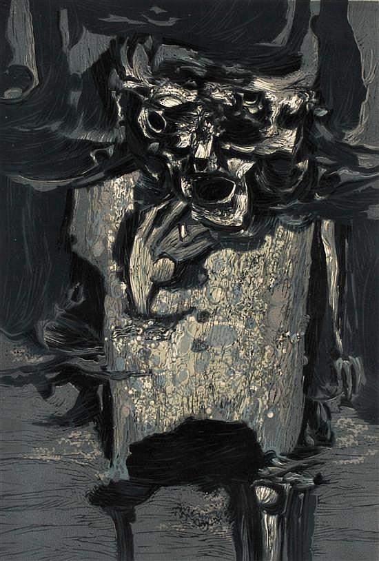 Tate Adams (born 1922) Clown 1962 colour linocut 47/50