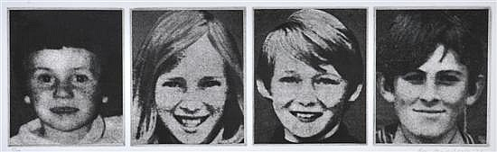 Bea Maddock (born 1934) Four Faces 1974 four individual etchings printed on one sheet 5/60