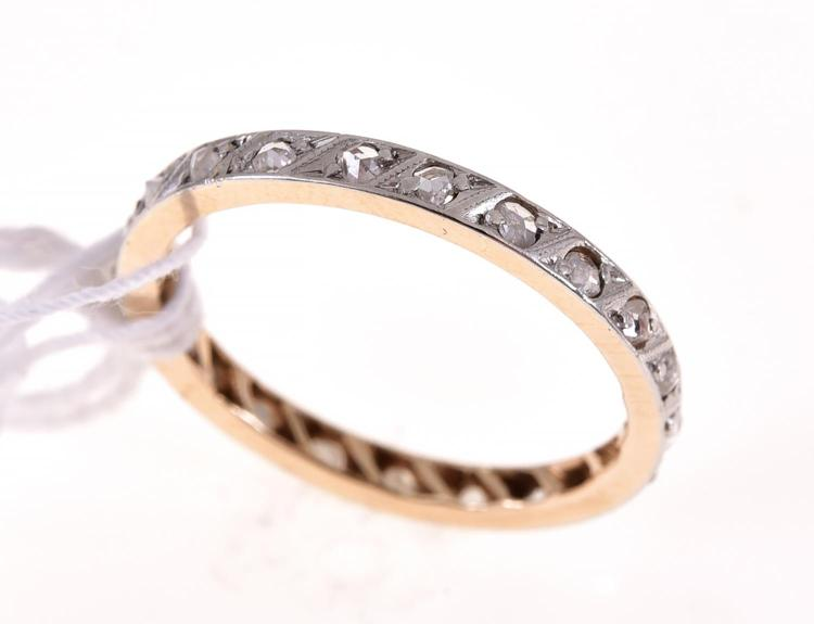 a eternity ring in 18ct gold
