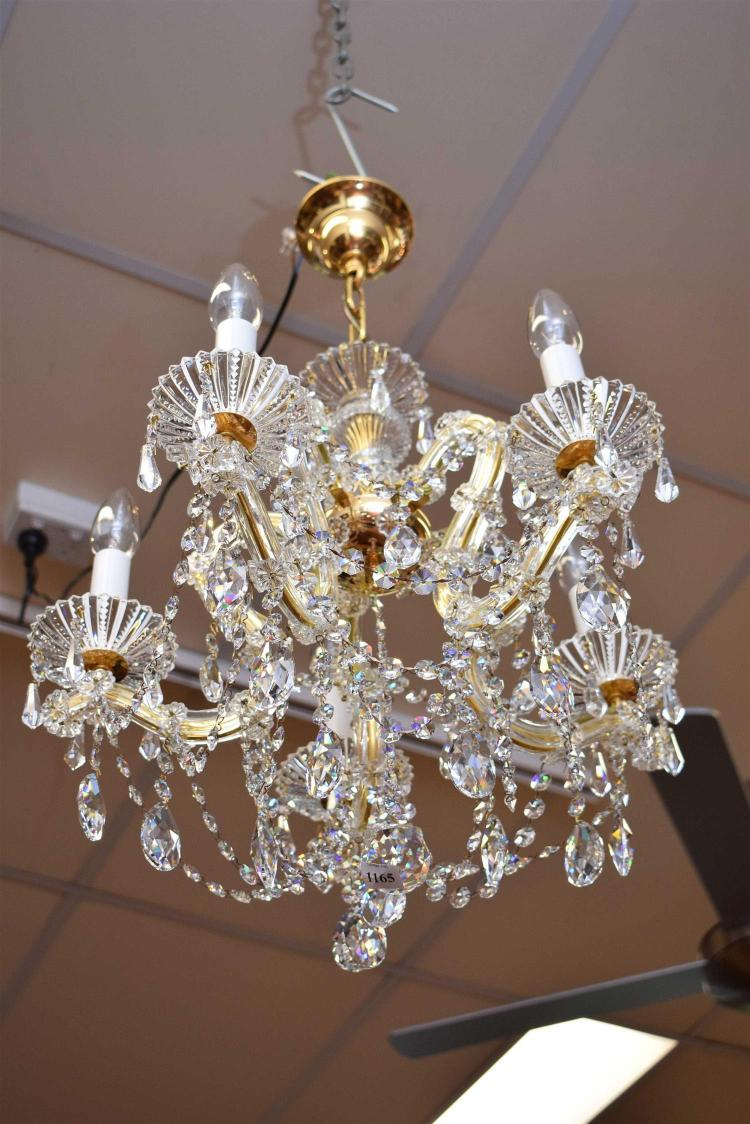 A Schonbek Marie Therese Crystal Chandelier Plug Not Includ
