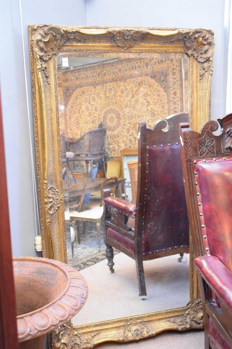 An English Gilded Mirror Originally From Mulgon Hotel In Q
