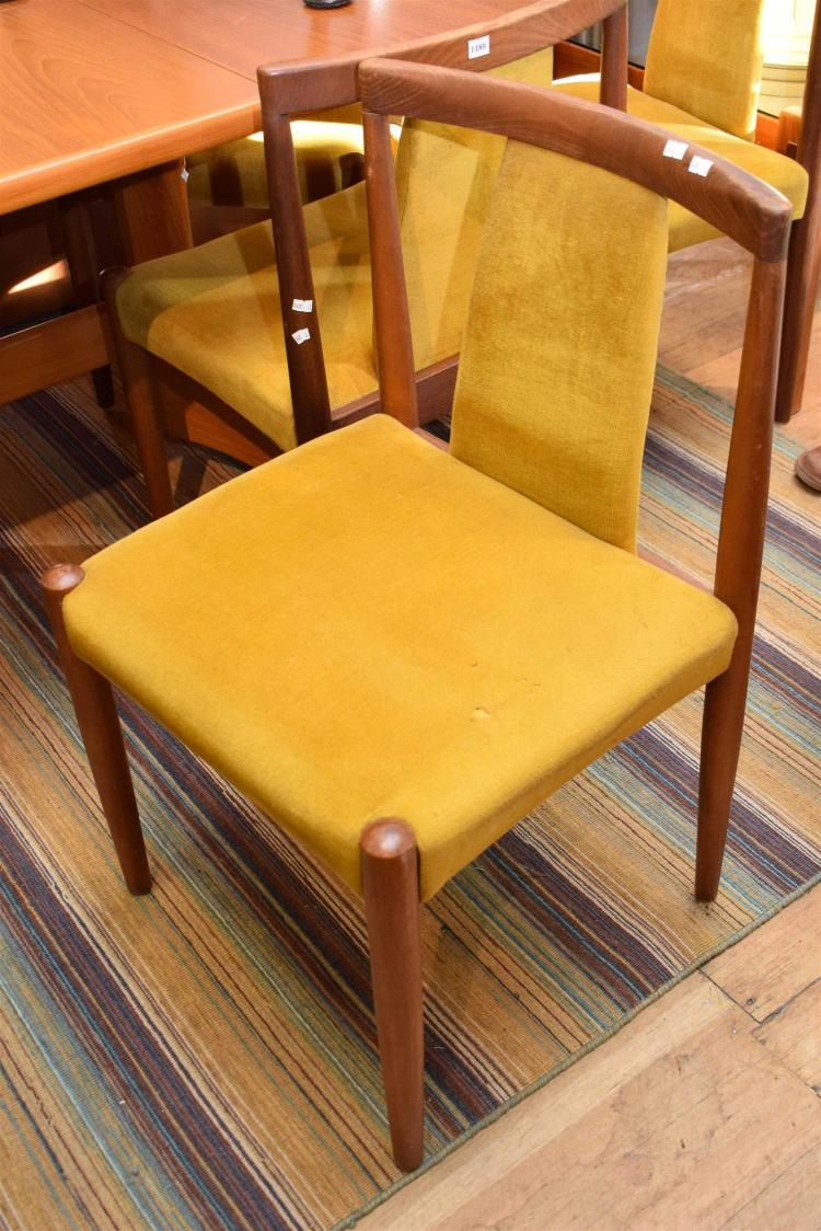 lot 1180 a set of six danish style dining chairs