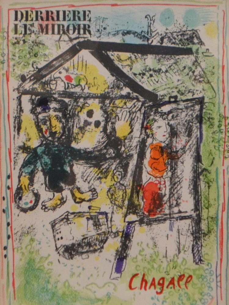 Marc chagall 1887 1985 derriere le miroir 1969 lithograph for Chagall derriere le miroir