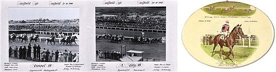 PHOTOGRAPHS OF THE 1944 AND 1945 CAULFIELD CUP FINISHES WON BY COUNSEL AND ST. FAIRY Overall 43cm x 54cm