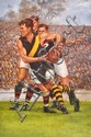 SIGNED D'ARCY DOYLE PRINT OF JACK DYER Overall 81cm x 55cm