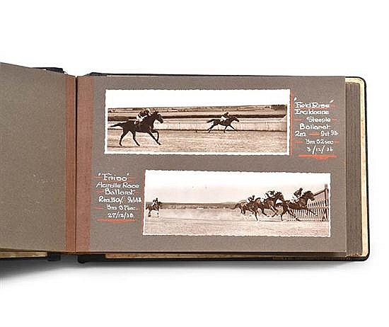 COLLECTION OF STEEPLECHASE AND HURDLE RACE PHOTOGRAPHS FEATURING HORSES TRAINED BY P.J. KEARNS