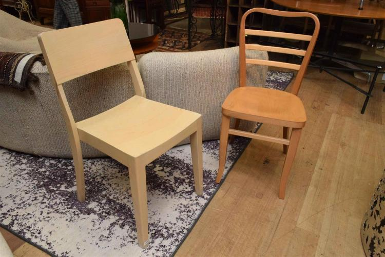 Thonet Sedie L Esteta In Soggiorno : Two thonet beech side chairs one planar chair and leiter ch