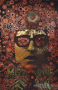 MARTIN SHARP (BORN 1942) Mister Tambourine Man 1967 two colour screenprint on gold reflective foil paper