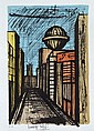 BERNARD BUFFET (FRENCH, 1928-1999) City Street lithograph EA