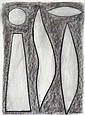 JOHN COBURN (1925-2006) Abstract Composition charcoal