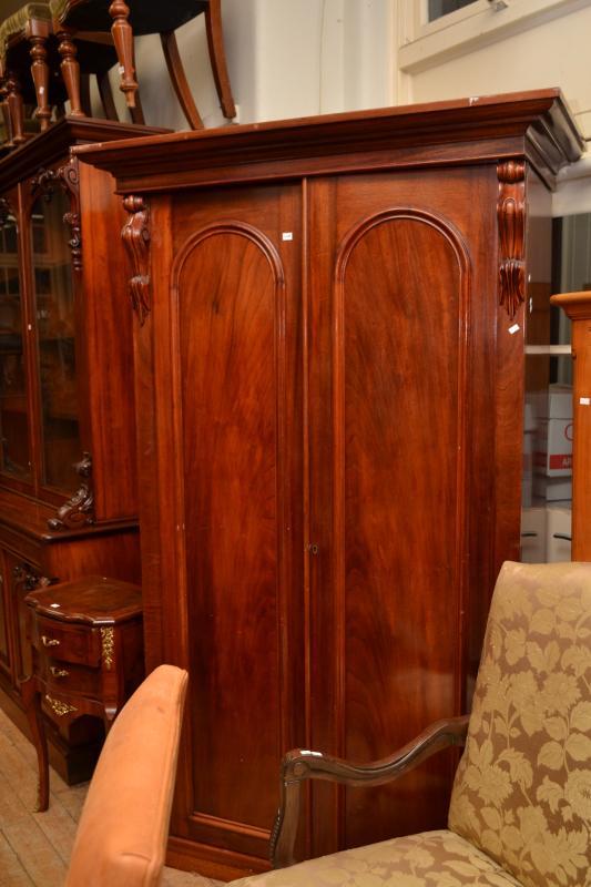 A Victorian Cedar Two Door Wardrobe Royal Mint Melbourne
