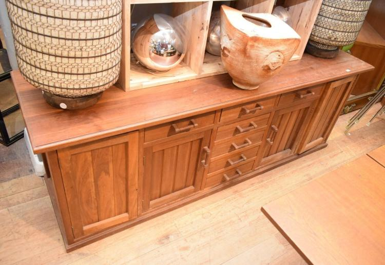 A BLACKWOOD ARTS AND CRAFT BESPOKE SIDEBOARD