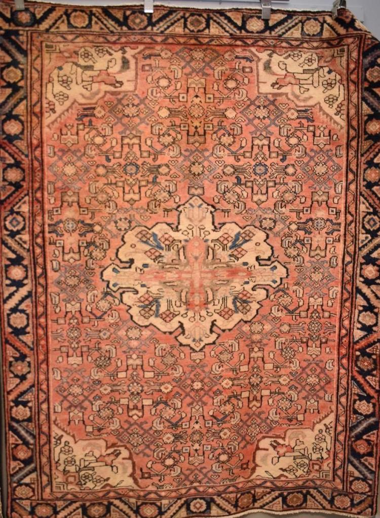 A PERSIAN RUG CIRCA 1950'S. ALL NATURAL DYES EXCELLENT WEAVE AND COLOURS. ALL NATURAL. COLLECTABLE AND RARE. ORIGIN- IRAN. 198 x 150...