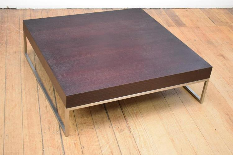 a modern square shaped coffee table