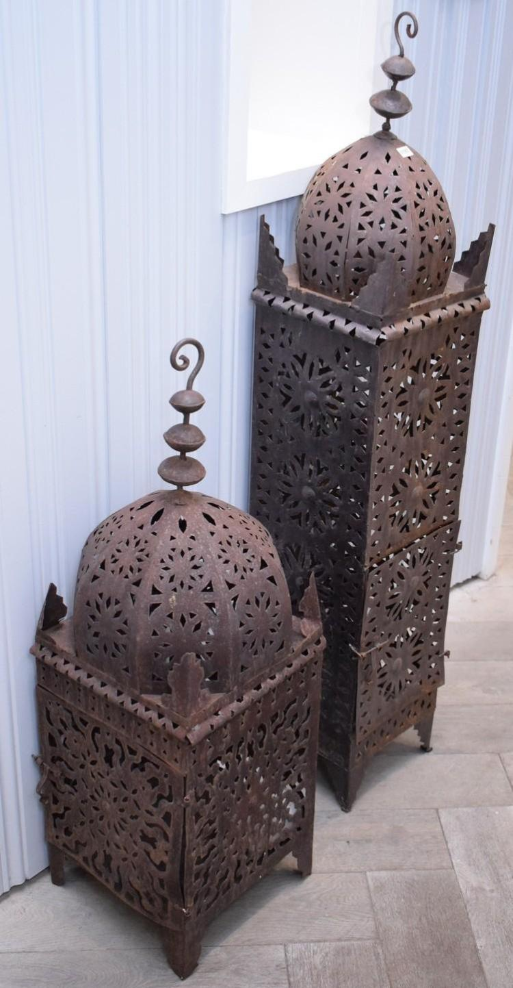 TWO MOROCCAN LANTERNS