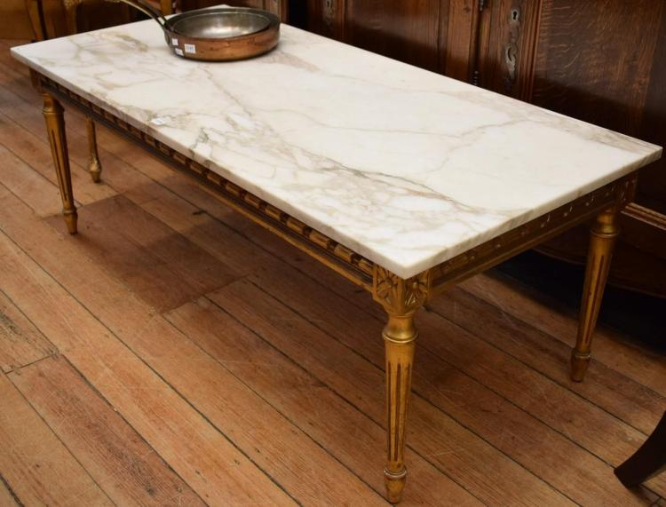 A Louis Xvi Style Marble Top Coffee Table