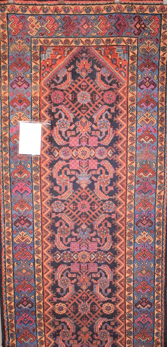 PERSIAN MALAYER HALL RUNNER WOOL ALL NATURAL DYES, EXCELENT WEAVE ORIGIN IRAN- 327X110 RRP $2700