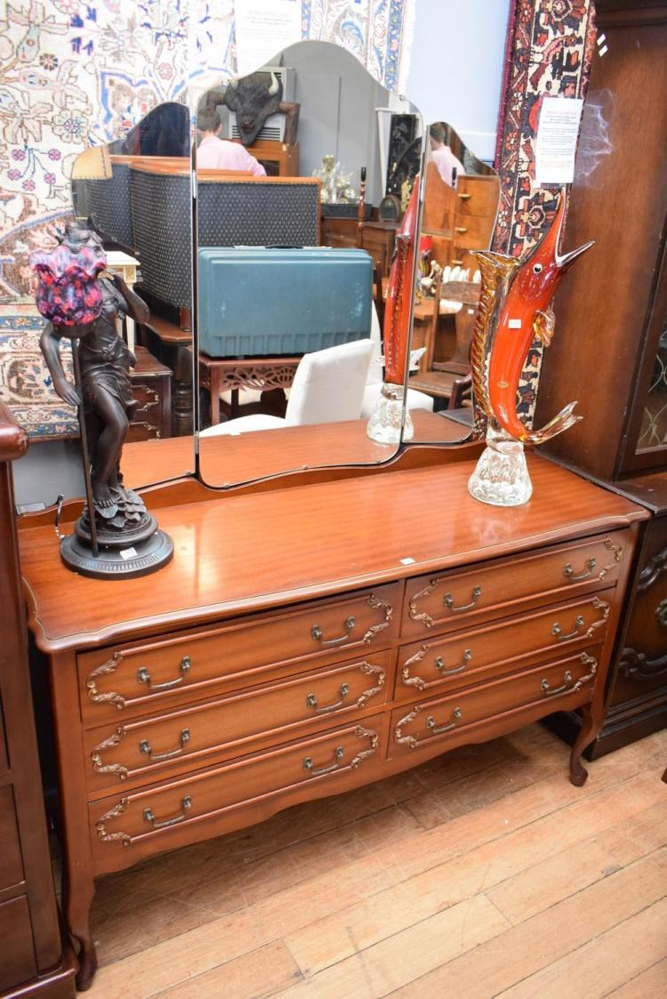 A QUEEN ANNE STYLE SIDEBOARD