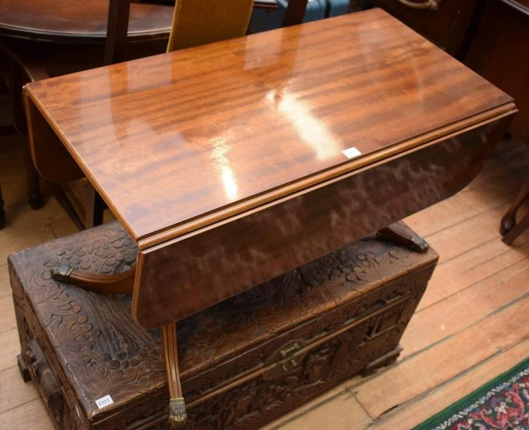 A REGENCY STYLE DROPSIDE COFFEE TABLE