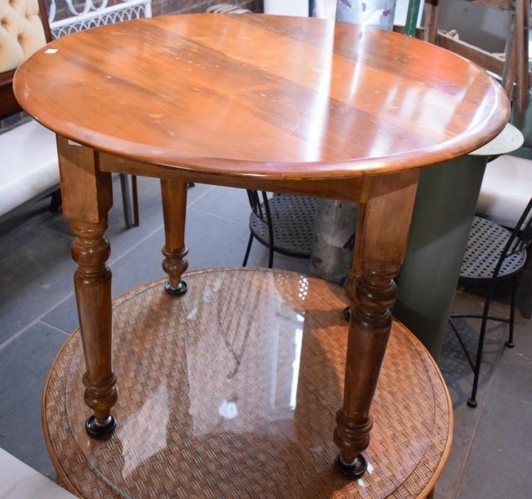 AN EDWARDIAN SIDE TABLE