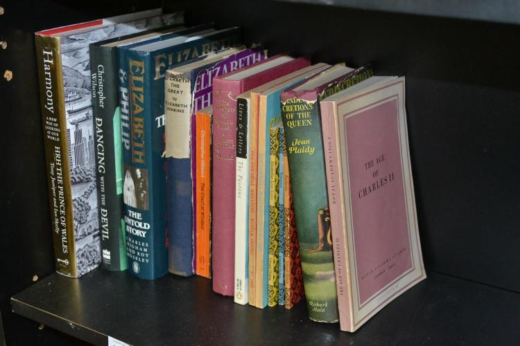 A PART SHELF OF ROYAL RELATED BOOKS