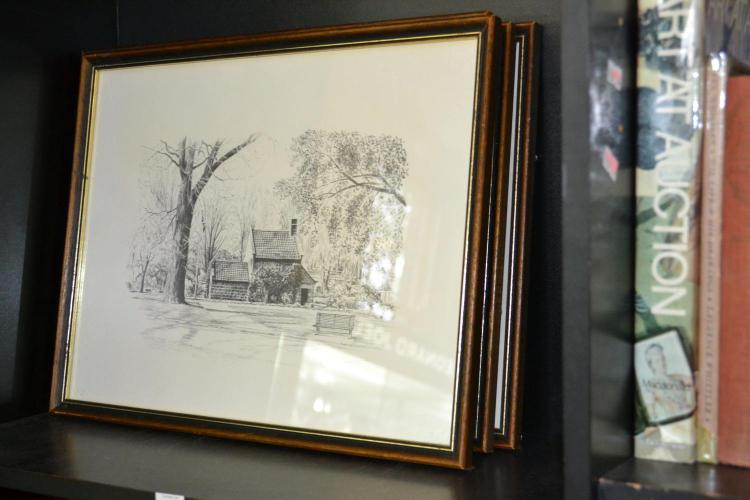 A COLLECTION OF FRAMED PRINTS OF URBAN SCENES FROM THE AGE SERIES