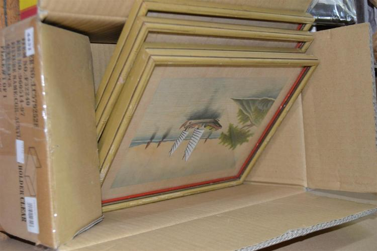 A BOX OF FOUR CHINESE PAINTINGS